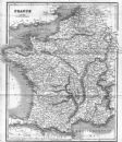 FRANCE: BELL , 1839 map